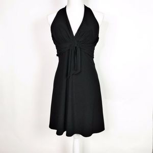 Holiday Cocktail Party WHBM Black Halter Dress 0